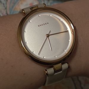 Skagen nude rose gold watch